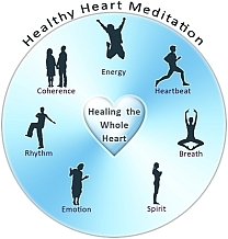 healthy heart meditation energy logo